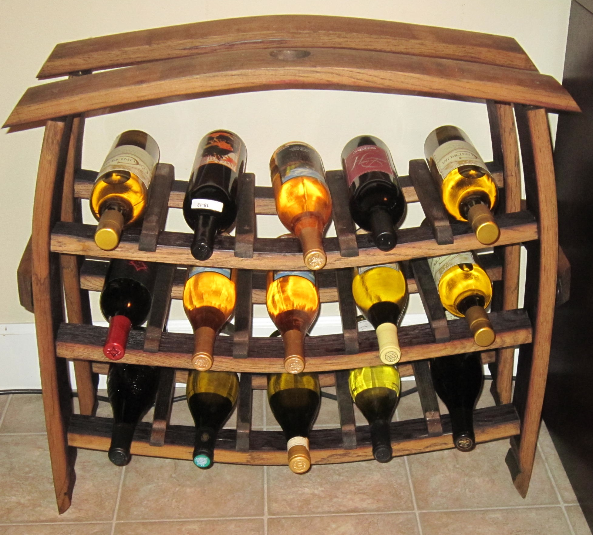 15 Bottle Wine Rackstave Designs