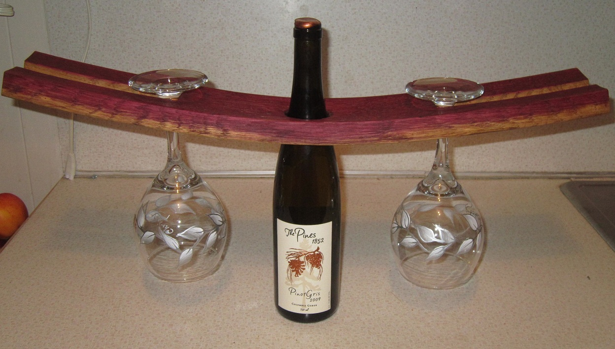 Bung Hole Wine Glass Holder Stave Designsstave Designs
