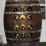 Half Barrel Wine Rack