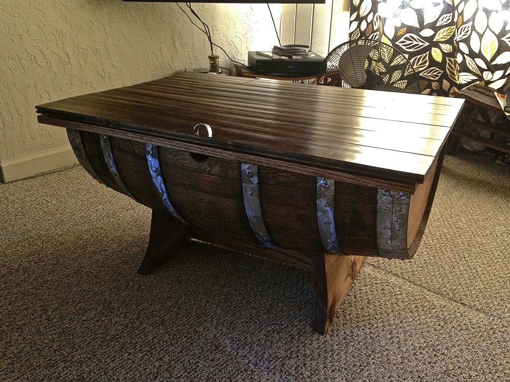 Wine Barrel Coffee Table Stave Designsstave Designs