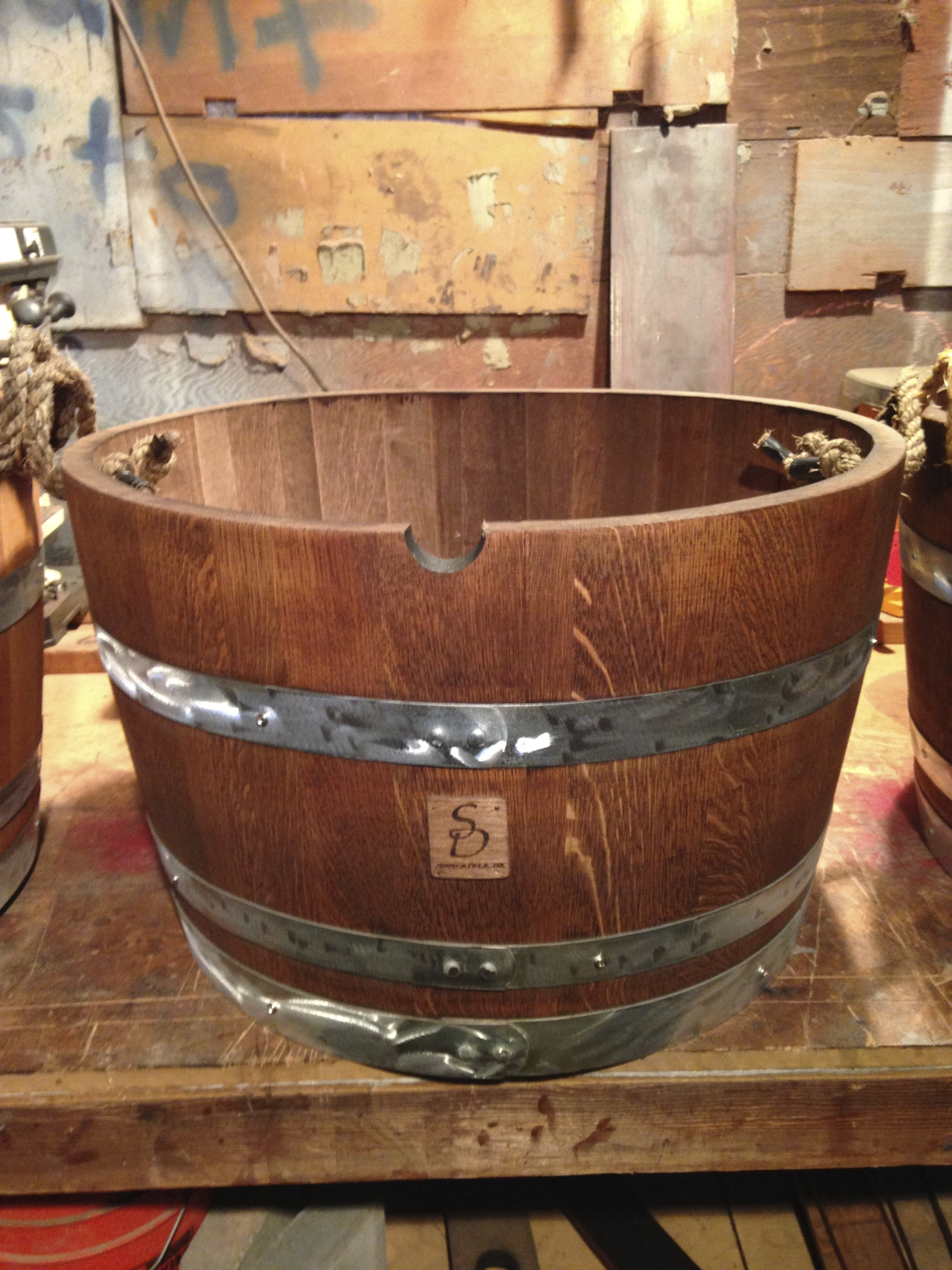 1 2 Wine Barrel Planterstave Designs